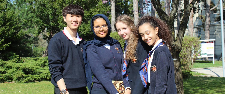 Students at International School in vienna