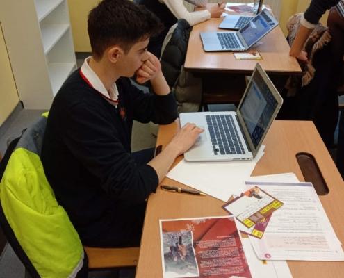 Male student in class at Amadeus International School Vienna