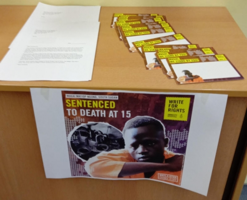 Write for Rights Campaign at School