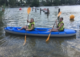 Two girls in a Kayak